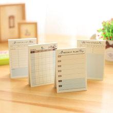 Kreatywny pamiętnik tygodniowy Plan notatnik Do zrobienia List czas Sticky note harmonogram artykuły biurowe i szkolne tanie koreańskie piśmiennicze