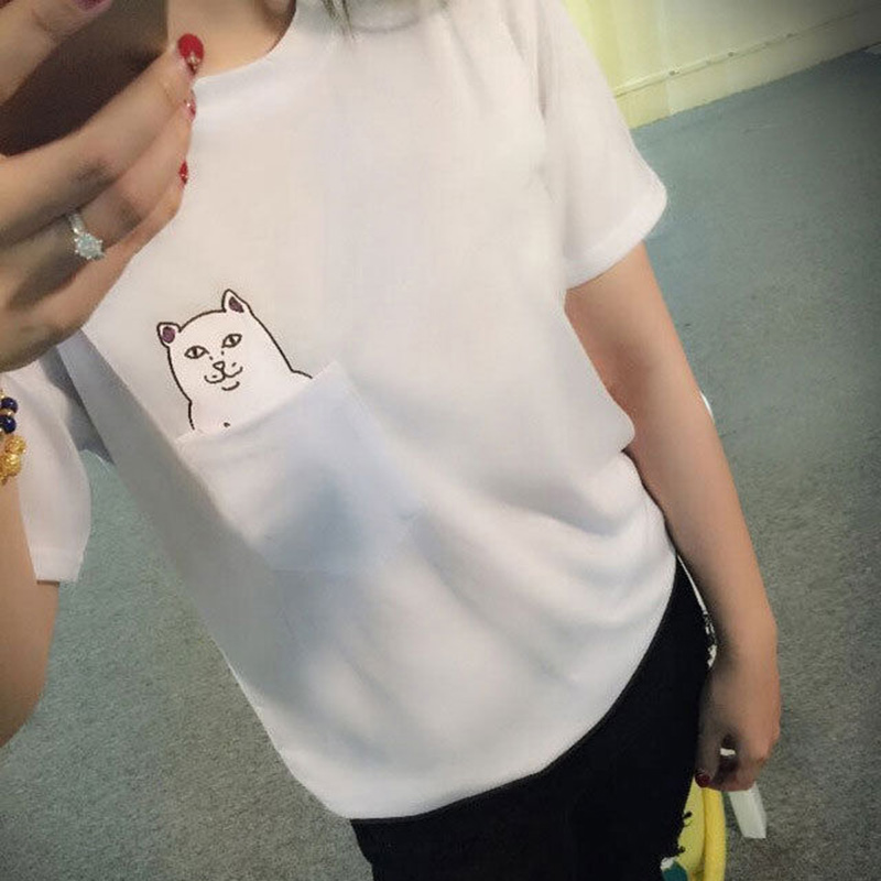 2017 Summer Women T Shirt Funny Printed Casual Short Sleeve Cotton O-Neck Tees Tops