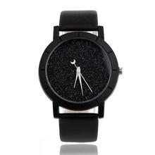Мужские и женские часы Повседневная простота звезды минималистичные модные наручные часы для влюбленных кожаный ремень роскошь Relogio Feminino Saat