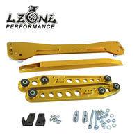 LZONE RACING-ASR TRASERO SUBFRAME Para 1996-2000 Civic + Rear Lower Control Arm Brazos + 96-00 EK Tie Bar Alta Calidad Anodizado 6 Color