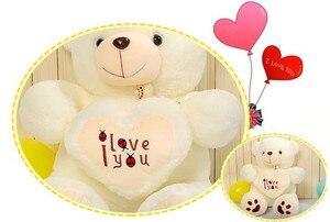 Image 5 - זול 50CM 70CM 90CM דובון דובי חיבוק ענק גדול צעצועי בובה ממולא בפלאש בעלי חיים אני אהבה אתה בובת ולנטיין מתנה עבור ילדה