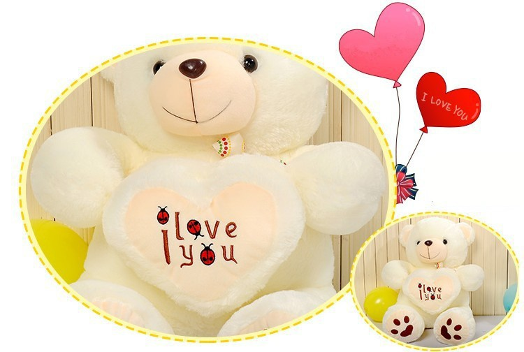 Image 5 - Cheap 50CM 70CM 90CM Teddy Bear Bears Embrace Giant Big Toys Doll Stuffed Plush Animals I love You Doll Valentine Gift for girl-in Stuffed & Plush Animals from Toys & Hobbies