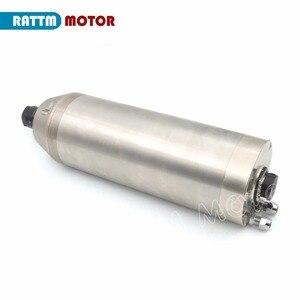 Image 4 - Двигатель шпинделя с водяным охлаждением, кВт ER20 водонепроницаемый резной Металл 220 В 12A для резного металла для фрезерного станка с ЧПУ