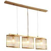 3 лампы стекло латунь медная подвеска подвесные светильники ресторан светильники для домашнего декора столовая спальня светильник