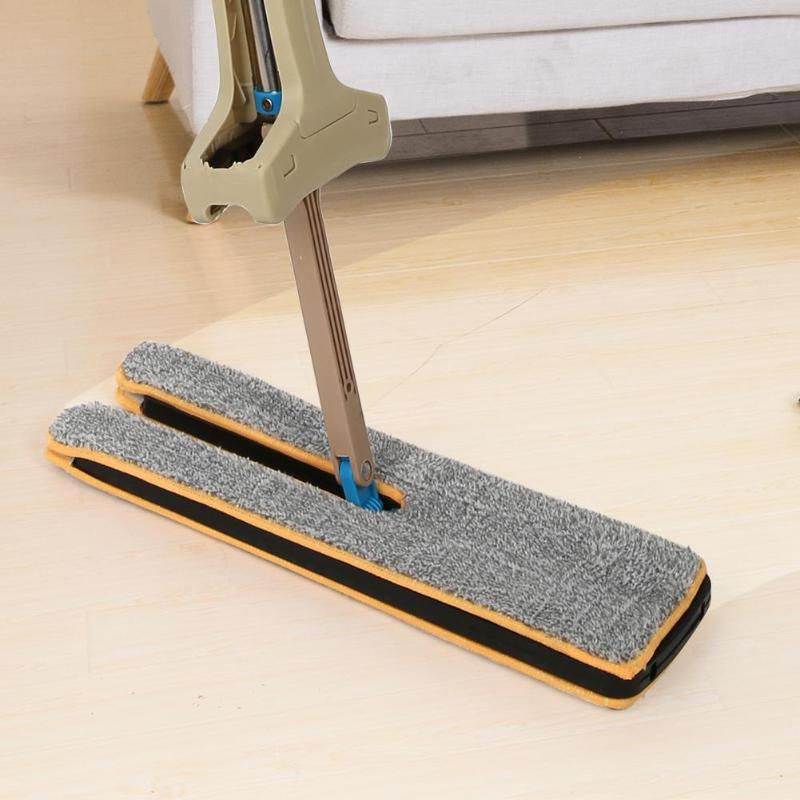 Double Sided Flat Cleaning Mop Self Wringing Wooden Floor