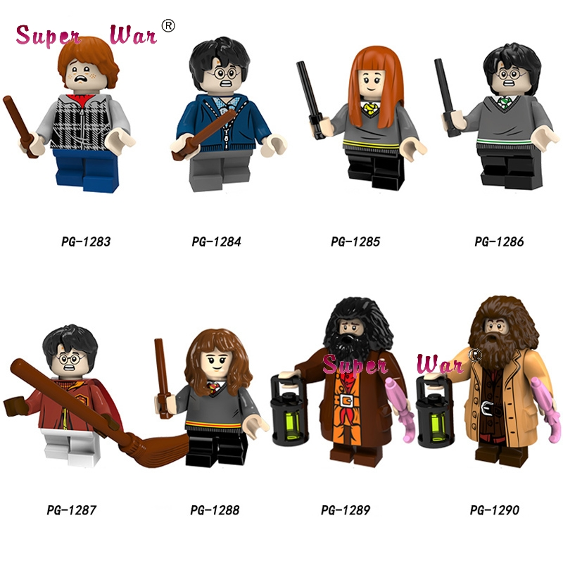 Single Building Blocks Harry Potter Figures Rubeus Hagrid Ron Ginny Weasley Hermione Granger Oliver Collection toys for children