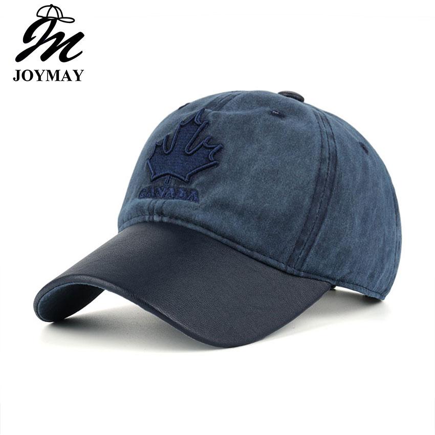 JOYMAY High quality Washed Cotton Adjustable Solid color   Baseball     Cap   Unisex couple   cap   Fashion Leisure dad Hat Snapba B436