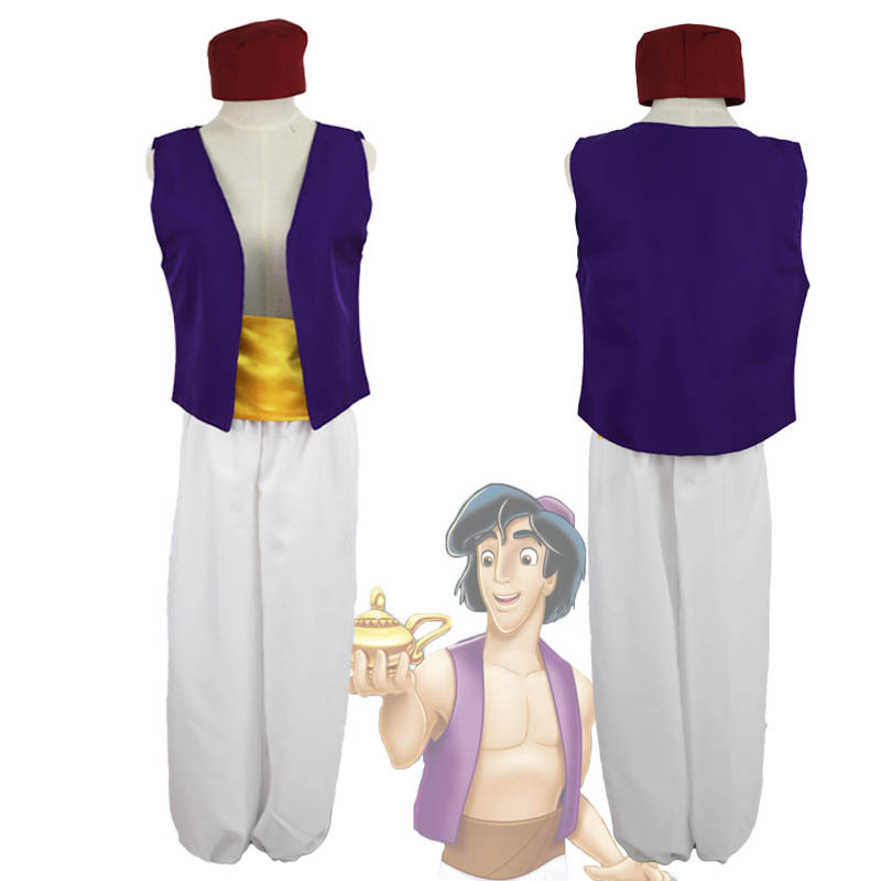 New Carnival Clothing Anime Aladdin Lamp Prince Cosplay Costume Adult Halloween Costume For Men Aladdin Play Costume Full Set