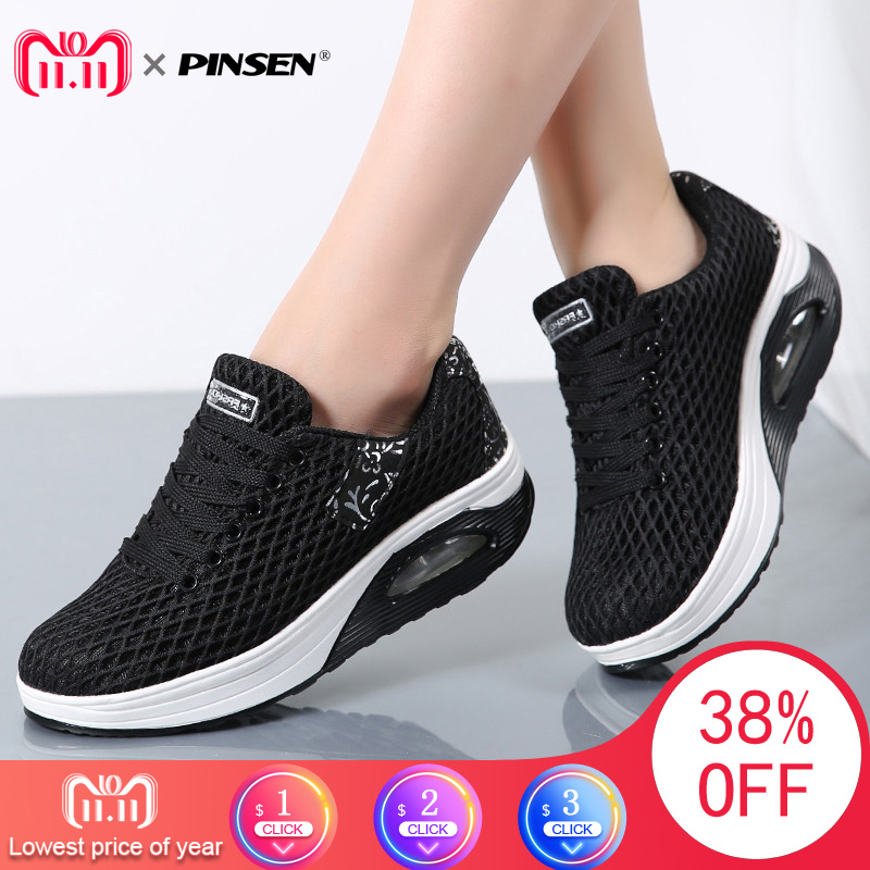 PINSEN Women Flat Platform Shoes Woman Moccasin zapatos mujer platform sandals Slip On Ladies Shoes Casual Flats Moccasins 65cm cosplay wig lady long wavy hair full wigs party 3 colors