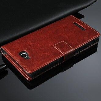 FM HQ PU étui en cuir pour SONY Xperia C S39H c2305 c2304 Dual c 2305 2304 portefeuille de luxe avec étui à rabat