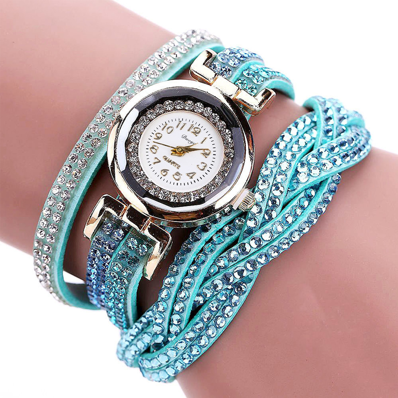 TIke Toker, Mode Luxe Strass Armband Dameshorloge, Dames Quartz - Herenhorloges - Foto 6