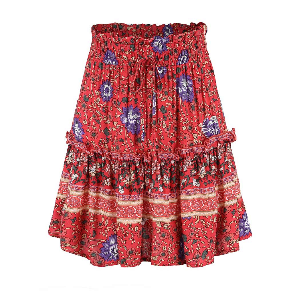 Summer Skirts Womens 2019 Sexy Casual Ptintting Party High Waist Hip Short Skirt Faldas Mujer Moda 2019 El Verano #n45