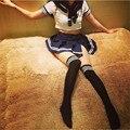 Nova Tentação Uniforme Sexy Escola Japonesa Estudantes Marinheiro Uniforme Lingerie Traje Empregada Menina Listrado Cosplay Outfit Vestido
