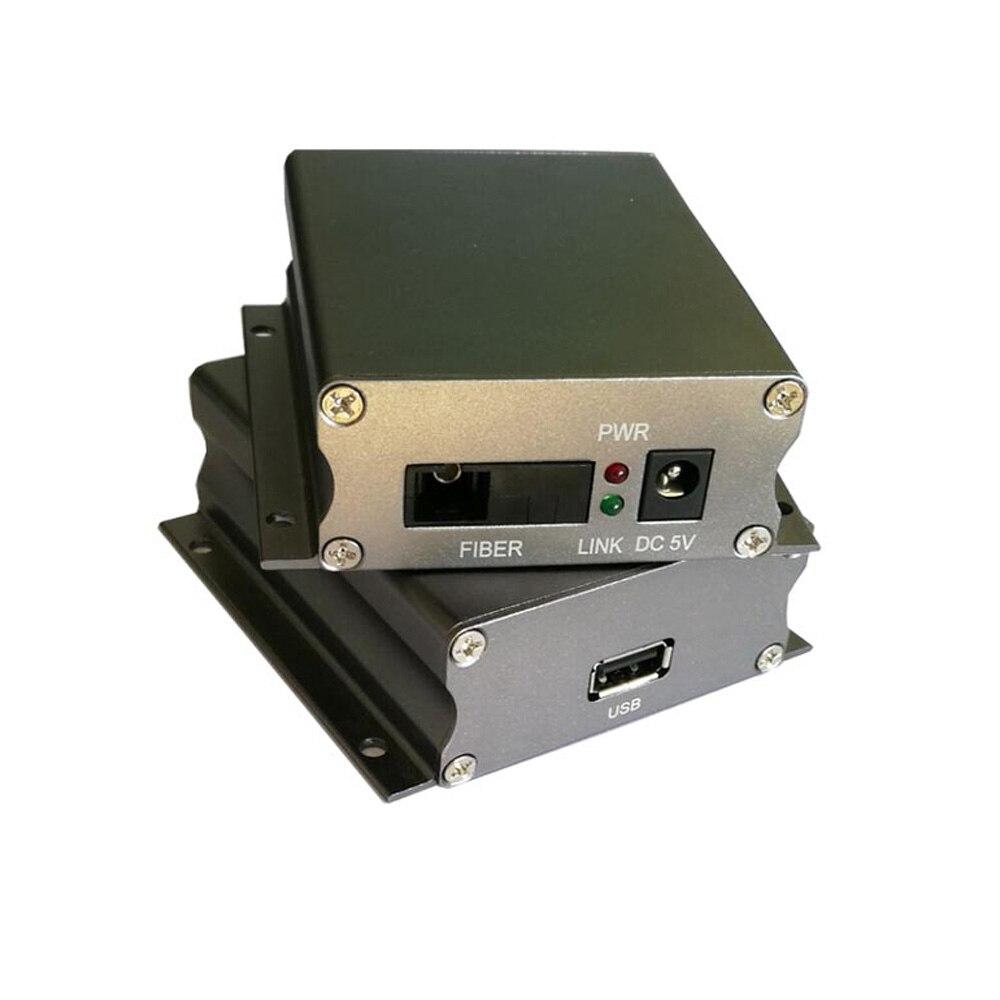 USB Extender USB données sur Fiber optique Convertisseurs de Média 500 mètres-contrôle KVM pour l'industrie caméras imprimante scanner