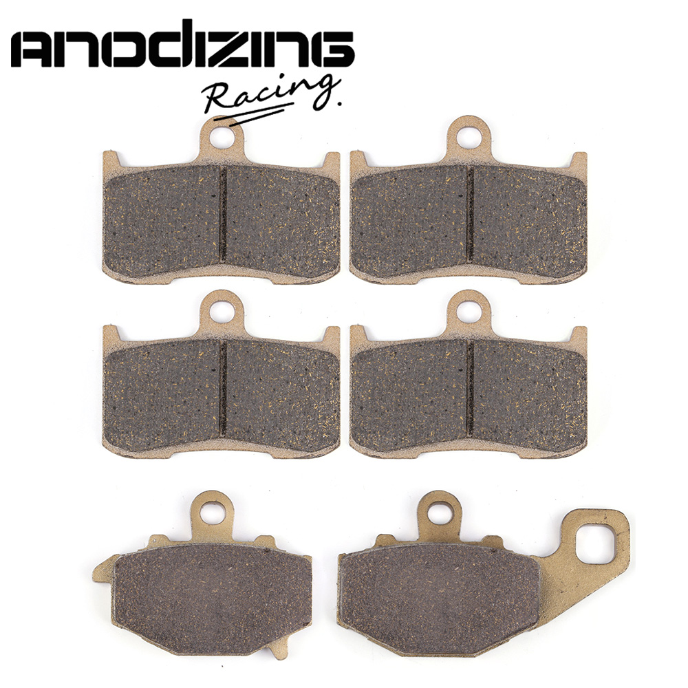 Motorcycle Front and Rear Brake Pads For KAWASAKI Z1000 ZR1000A  2003-2006 180 16 9 fast fold front and rear projection screen back