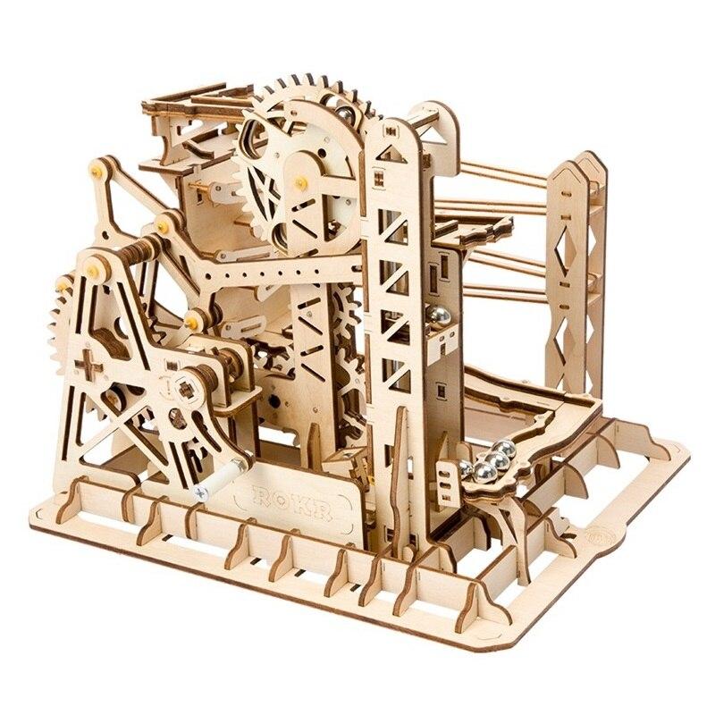 Robotime DIY Лифт Coaster магия творческий Мрамор запустить игру деревянная модель строительные Наборы сборки игрушка в подарок для детей и взрослы...