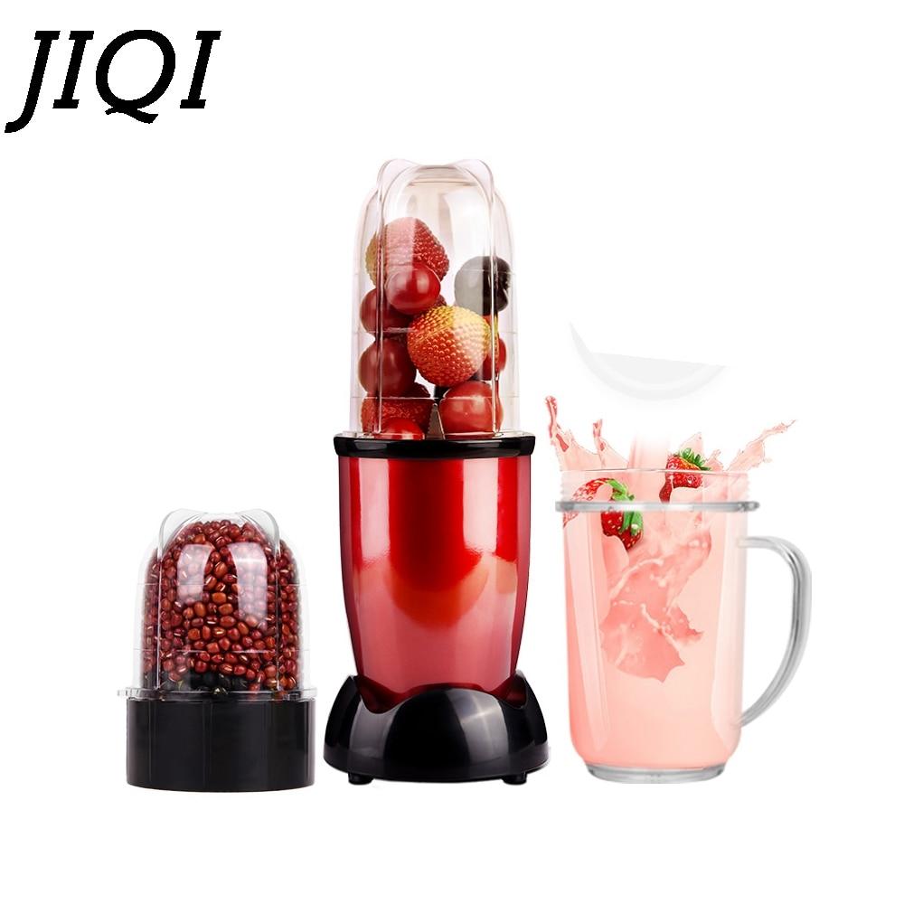 JIQI MINI licuadora eléctrica portátil batidora de alimentos para bebés batidora de leche trituradora de carne máquina multifunción para hacer jugo de fruta EU US