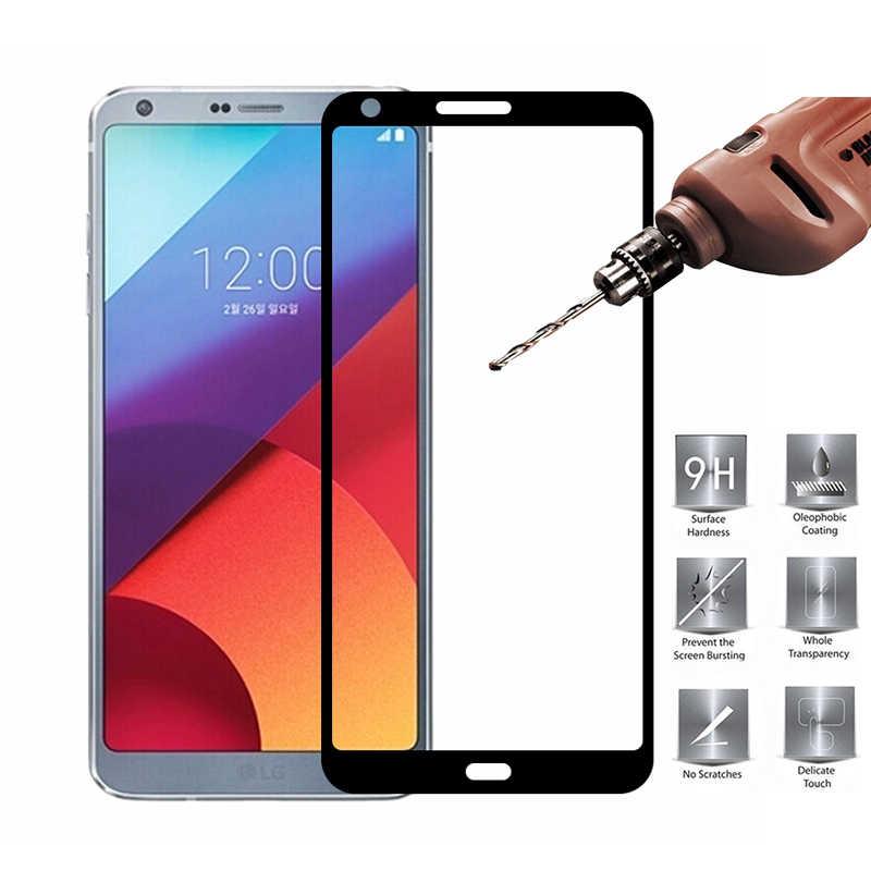 Pour lg g 7 thinQ G6 G8 écran de protection verre trempé sur pour lg g 6 7 8 couverture complète écran protecteur trempe verre pelicula film