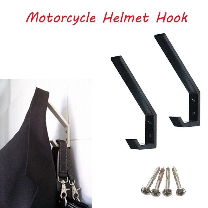 2Pcs ABS Motorcycle Helmet Holder Hook Jacket Hanger Home Luggage Hook Multipurpose Wall Mount Rack For Kitchen Door Cabinet
