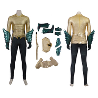 MANLUYUNXIAO Justice League Arthur Curry Aquaman Cosplay Costume Halloween for Men Jumpsuit Aquaman Costume