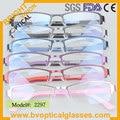 2297 Half rim rectangle ultem metal optical frame for man eyeglasses myopia prescription spectacles eyewear