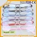 2297 Metade aro retângulo ultem frame ótico para o homem do metal óculos de miopia óculos de prescrição de óculos