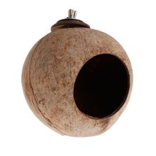 Parrot Nest Natural Coconut Shell House Cage Feeder Parakeet Birds Squirrel Hamster Toys Pet Breed Decoration Supplies Bird Toy