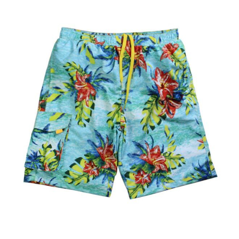 High Quality Men's Print Beach   Short   Pants,Quick Drying Beach   Shorts  ,Fashion   Board     Shorts