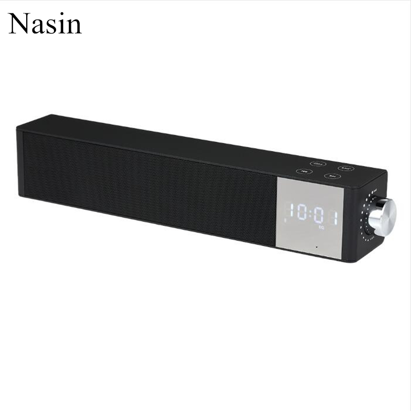 Nasin PTH-2000 Portable Magnetic Dual Speaker Stereo Card LED Clock Display Wireless Bluetooth Speaker for xiaomi huawei iphone huawei am08 bluetooth speaker white