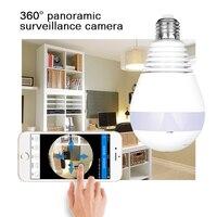 Home Security WiFi Camera Smart Panoramic Bulb 1.3M Wireless Ip Camera Bulb Light CCTV VR Cam Support Smartphone