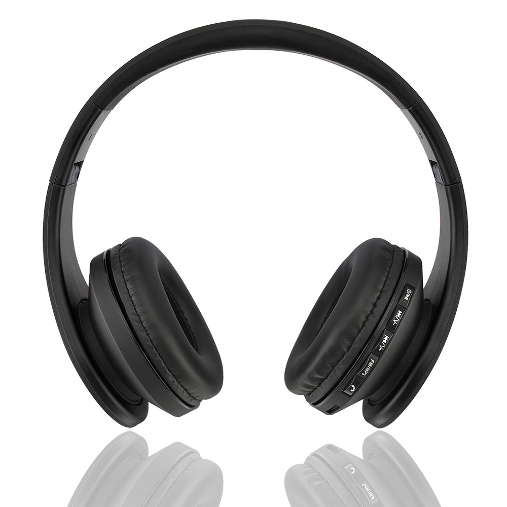 NEW 4 In 1 Bluetooth Stereo Wireless Headphone With TF FM Stereo Radio MP3 Player Wired Headset With Mic For Phones Computers стоимость
