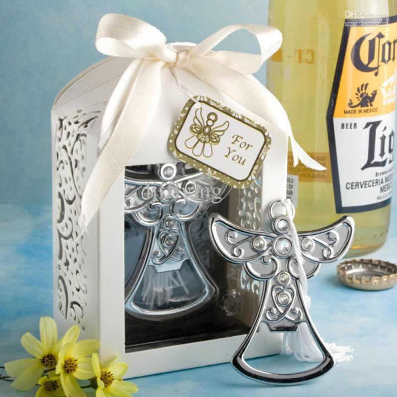 20pcs lot bridal shower favor angel bottle opener cross beer opener wedding  favor party supplies 184e215a74fc