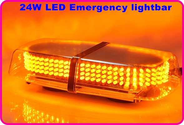 Higher star 31cm DC12V 24W Led car strobe mini lightbar,emergency lightbar,police warning lightbar,11flash,waterproof rax camping