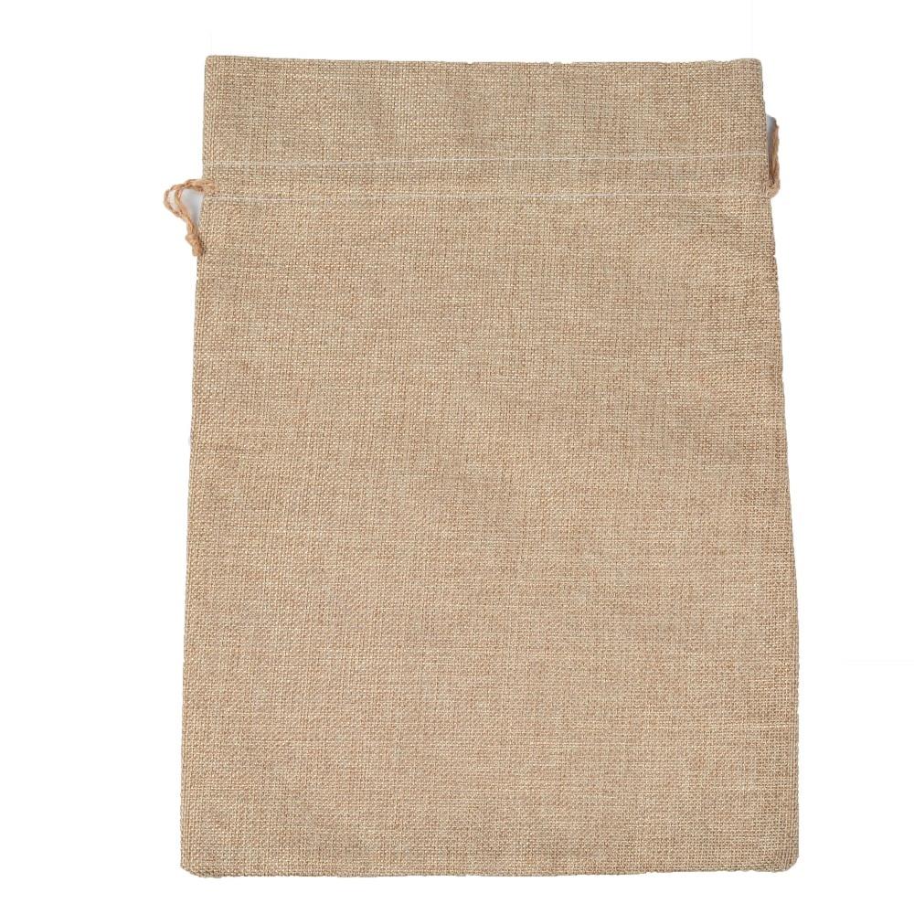 Купить с кэшбэком 50Pcs/lot Vintage Natural Burlap 25x35cm big bag Gift Candy Bags Wedding Party Decoration Favor Gift Pouch Jute Rice Bag Package