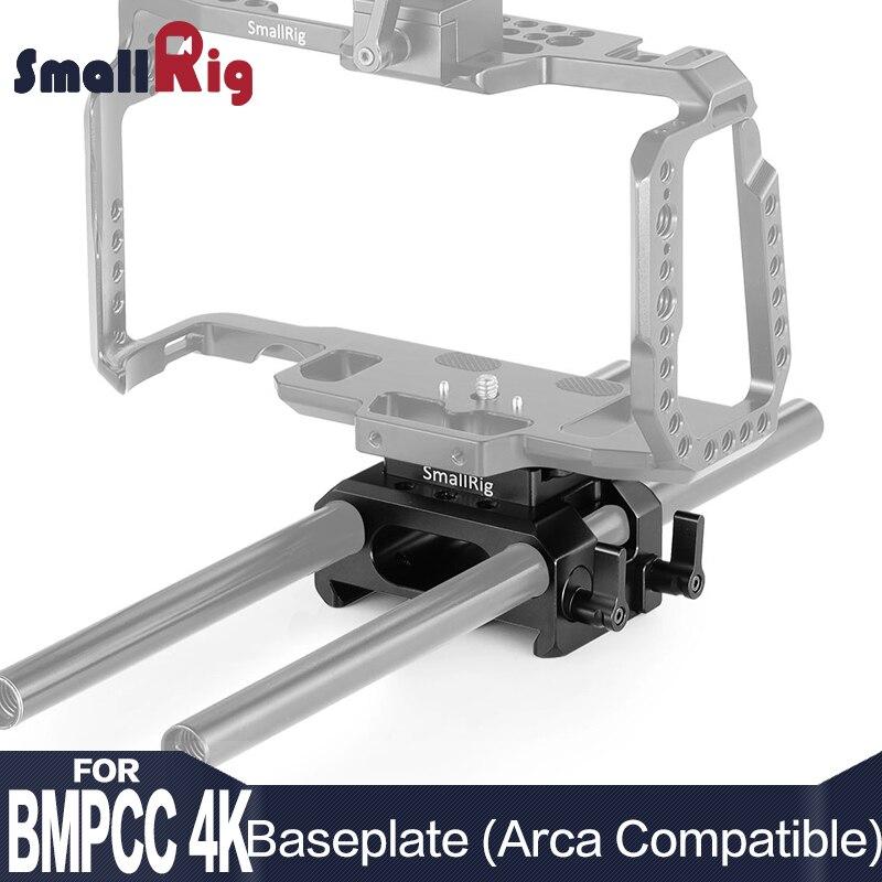 SmallRig Baseplate for Blackmagic Design Pocket Cinema Camera 4K Arca Compatible DSLR Camera Plate with 15mm