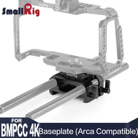 SmallRig Baseplate for Blackmagic Design Pocket Cinema Camera 4K (Arca Compatible) DSLR Camera Plate with 15mm Rod Clamp 2261