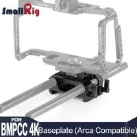 SmallRig Baseplate for Blackmagic Design Pocket Cinema Camera 4K (Arca Compatible) DSLR Camera Plate with 15mm Rod Clamp 2261
