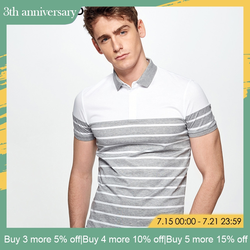 SELECTED summer new striped short sleeve   Polo   men| 41823z533