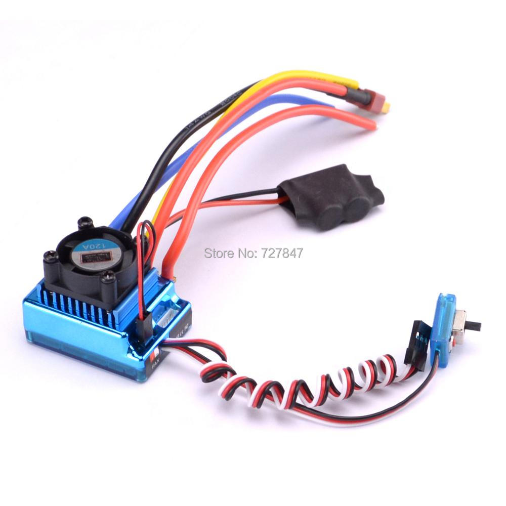 120A Sensored <font><b>Brushless</b></font> Speed Controller ESC for 1/16 1/10 1/12 <font><b>RC</b></font> Car Crawler image