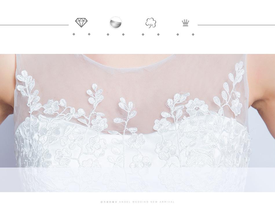 Angel Wedding Dress Marriage Bride Bridal Gown Vestido De Noiva 2017 Lace, flowers, perspective, backless 612 7