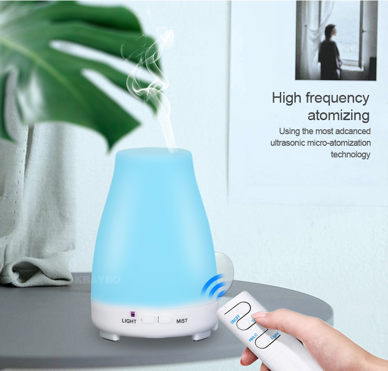 Ultrasonic Humidifier Aromatherapy Oil Diffuser Cool Mist Color LED Lights Esential Oil Diffuser Remote Control