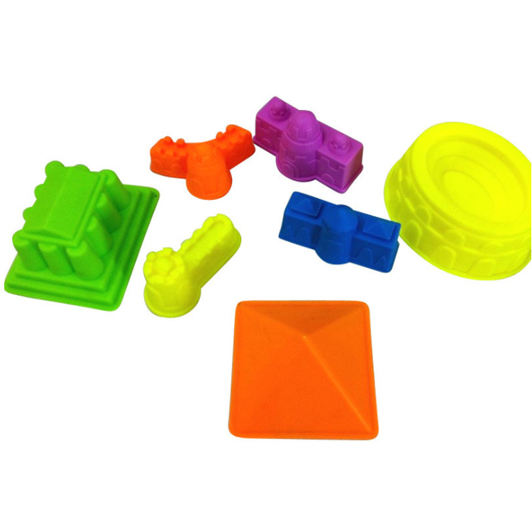 7Pcs New Children Mini Ancient Building Sand Castle Mold Tools Beach Toys Baby Funny Game Model Building Kits KidsGifts