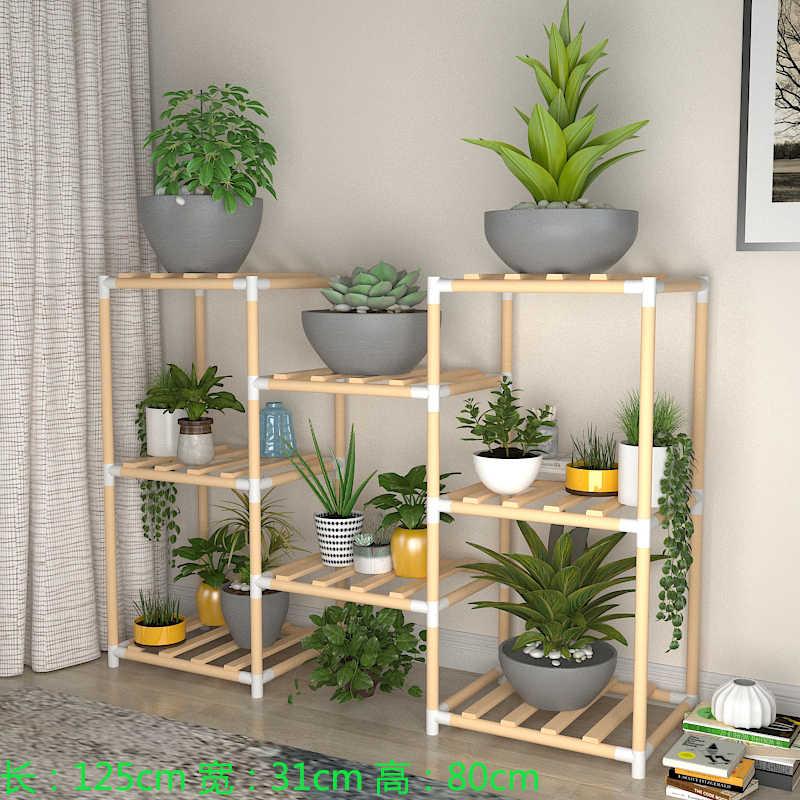 Wooden Flower Stands Multi Tier Plants Garden Storage Rack Pots Organizer Holder Customizable Display Shelves