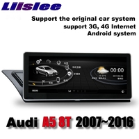 Lislee Car Multimedia Player NAVI For Audi A5 8T 2007~2016 Original Car System Radio Stereo WIFI MAP GPS Screen Navigation
