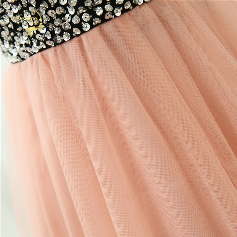Sweetheart Beading Crystal Floor Lenght Tulle Evening Dress
