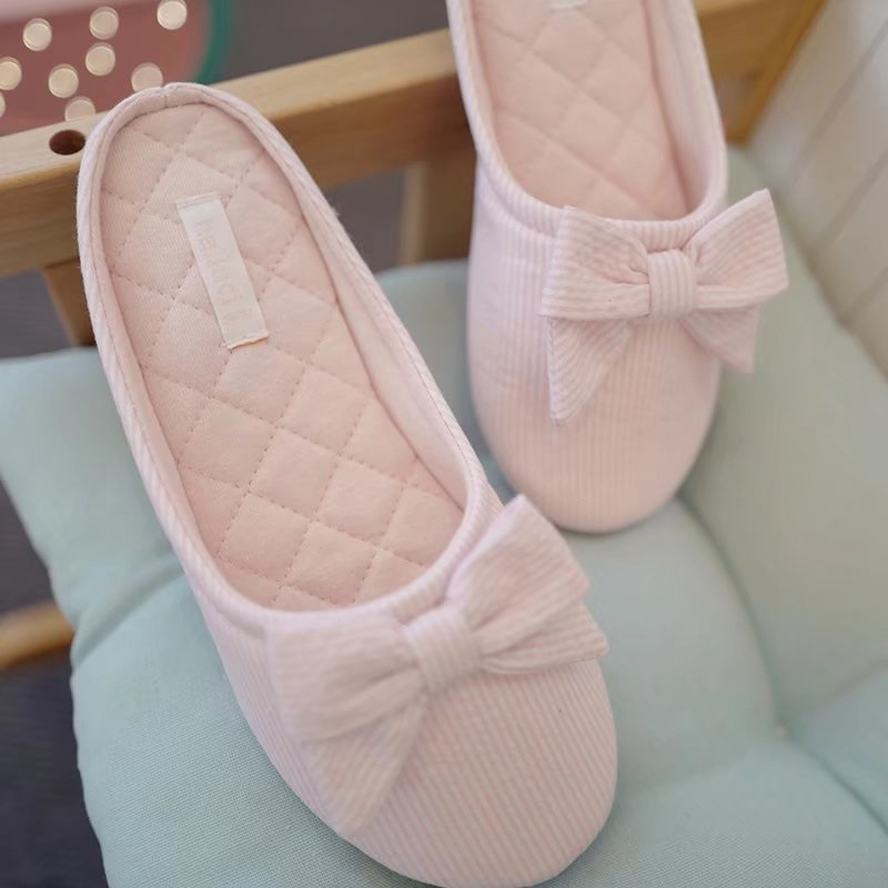 New Striped Warm Women Winter Home Slippers House Shoes For Indoor Bedroom Flats Cotton Shoes Christmas Gift cute sheep animal cartoon women winter home slippers for indoor bedroom house warm cotton shoes adult plush flats christmas gift
