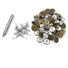 20mmJeans buttons 15 sets / pack + installation  buttons. Metal clasp buckle .Clothing & Accessories