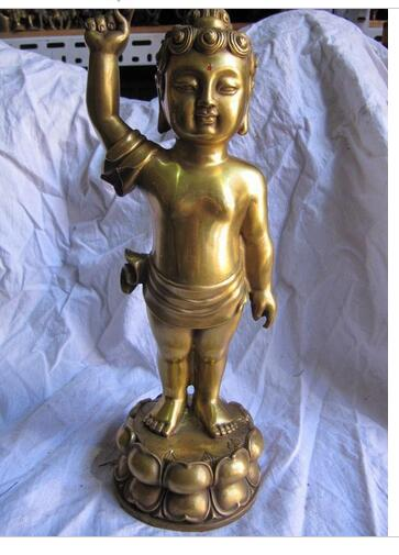 Art Brass Copper home decoration Tibetan pure brass tibet buddhism baby buddha sakyamuni statue