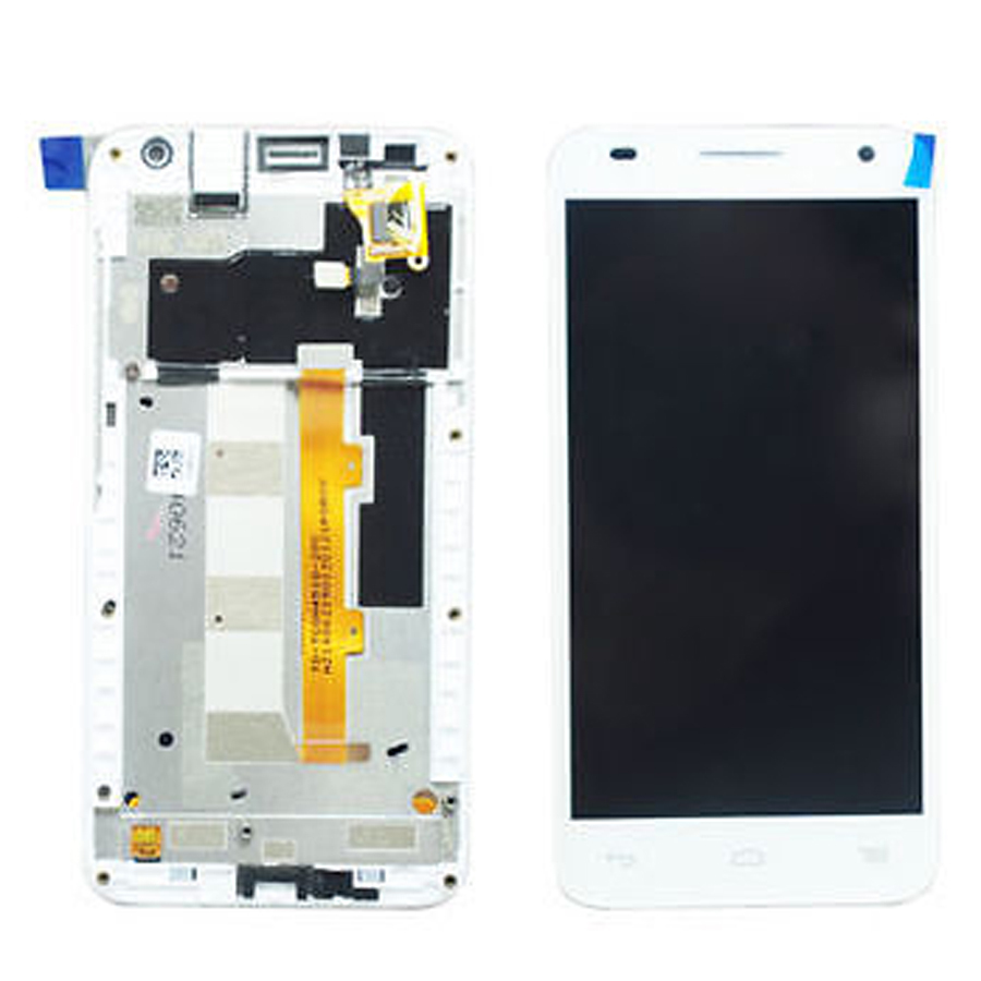 +Frame white LCD Display + Touch Screen Digitizer Assembly For Alcatel One Touch Idol 2 Mini S OT6036 6036 6036Y Free Shipping