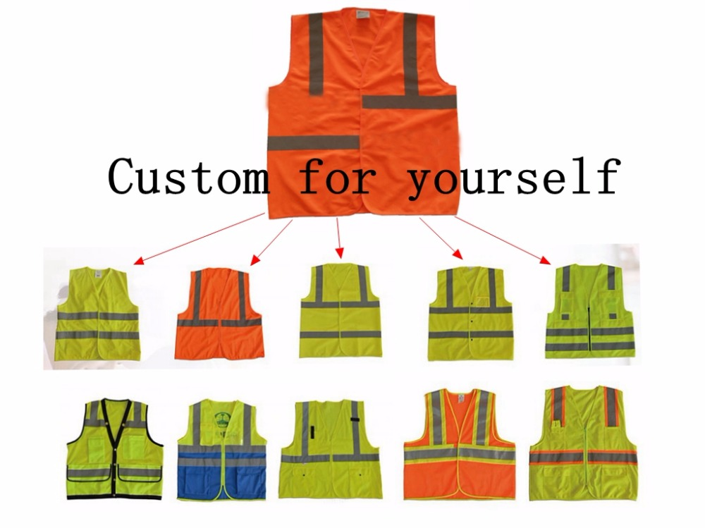 все цены на Personalized Private Custom High Visibility Night Working Protection Clothing Reflective Safety Vest Jacket онлайн